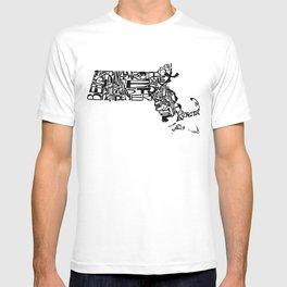 Typographic Massachusetts T-shirt