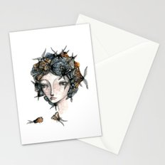 The moth girl Stationery Cards