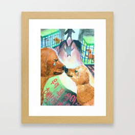 "Kim Sae Un ""We should survive and live a happy life."" Framed Art Print"