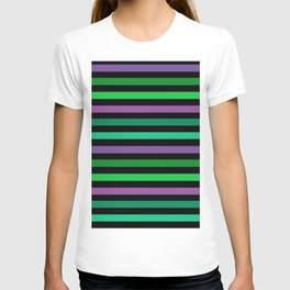 Horizontal bright stripes T-shirt