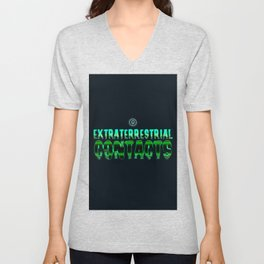 Extraterrestrial contacts Unisex V-Neck