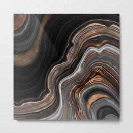 Glowing Marble Waves  Metal Print