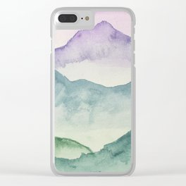 Hills and Valleys Clear iPhone Case