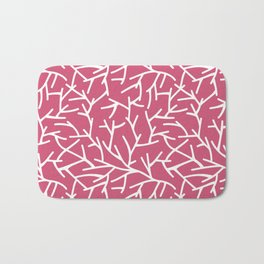 Branches - pink Bath Mat
