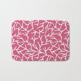 Branches - pink Bath Mat