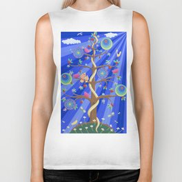 Mandala Tree of Life and Love Biker Tank