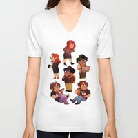 it crowd V-neck T-shirts featuring IT Crowd by SIINS