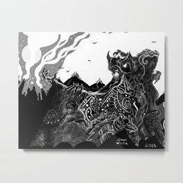 Skull Chieftain [Digital Figure Illustration] Metal Print