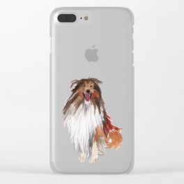 watercolor dog vol1 collie Clear iPhone Case