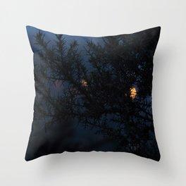 Bokeh thorns Throw Pillow