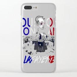 Lafayette America's Fave. Clear iPhone Case