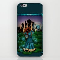 merida iPhone & iPod Skins featuring Silhouette Merida  by Katie Simpson a.k.a. Redhead-K
