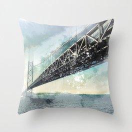 San Francisco - Bay Bridge Throw Pillow
