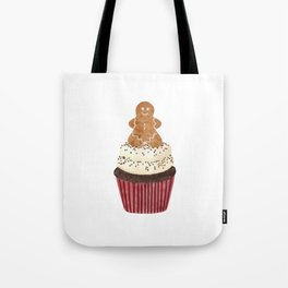 Gingerbread man Cupcake Tote Bag