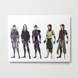 The Knight and the Prince Metal Print
