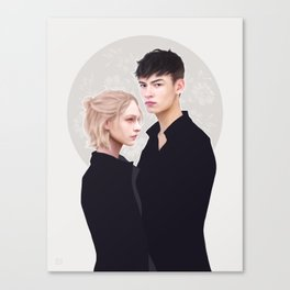 The Hero and the Fairy Canvas Print