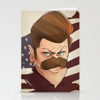 swanson Stationery Cards featuring Ron Swanson by nachodraws