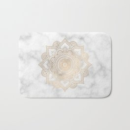 Marble Gold Mandala Design Bath Mat