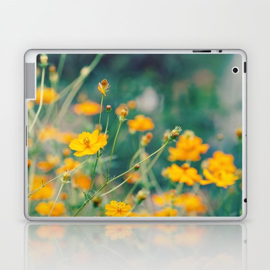 Orange Cosmos Laptop & iPad Skin