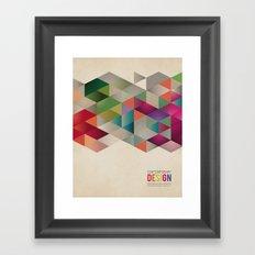 contemporary design Framed Art Print