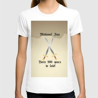 medieval T-shirts featuring Medieval Fan by Littlebell
