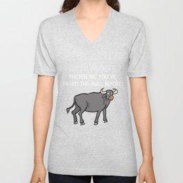 Deja Moo Funny Bull Pun Unisex V-Neck