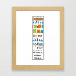 Finding Your Place Framed Art Print
