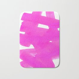 Superwatercolor Pink Bath Mat