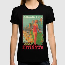 Atlantic city vintage bathing beauty T-shirt