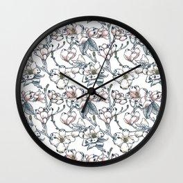 Magnolia Pug Wall Clock