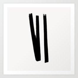 Lines 2, 1 Art Print