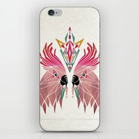 parrot iPhone & iPod Skins featuring parrot by Manoou