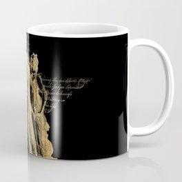 Look Around Black and Parchment Coffee Mug