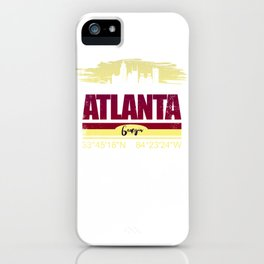 Atlanta, Geogia Gifts  Distressed Coordinates iPhone Case