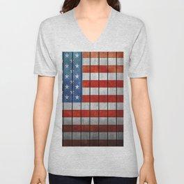 American Flag Unisex V-Neck