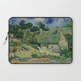 "Vincent van Gogh ""Thatched Cottages at Cordeville"" Laptop Sleeve"