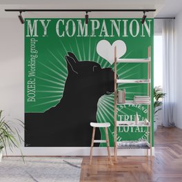BOXER – My Companion - Green Wall Mural