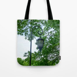 Lamppost Green Tote Bag