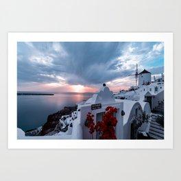 Seaside and Sunset Art Print