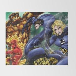 The Fantastic Four Throw Blanket
