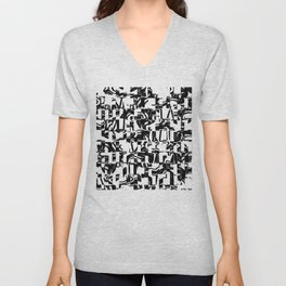 Black & White Unisex V-Neck