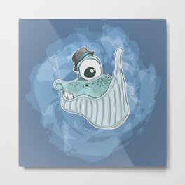 Will the Whale Metal Print