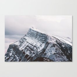 Mt. Rundle Piercing the Clouds Canvas Print