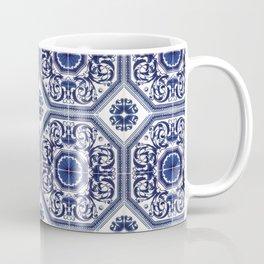 Portuguese Tiles Azulejos Blue and White Pattern Coffee Mug