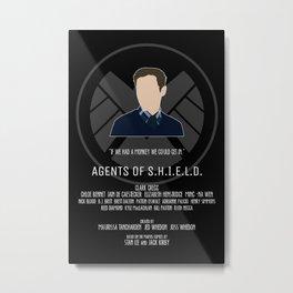 Agents of S.H.I.E.L.D. - Fitz Metal Print