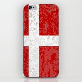 Flag of Denmark Grunge iPhone Skin