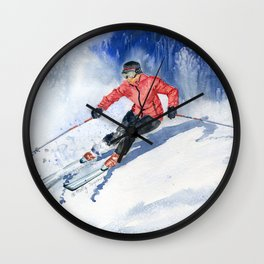 Winter Sport Wall Clock