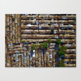 Slum aerial view Canvas Print