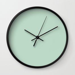 Misty Jade Wall Clock