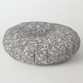 Gray Army Camouflage Floor Pillow